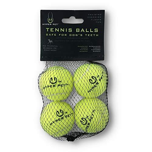 Hyper Pet Mini Tennis Balls for Dogs, Pet Safe Dog Toys for Exercise & Training, Pack of 4, Green