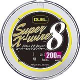 DUEL (デュエル) PEライン 釣り糸 スーパーエックスワイヤー8 【 ライン 釣りライン 釣具 高強度 高感度 】 1.0号 200m 5色/イエローマーキング H3608N-5CR
