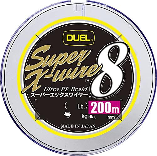 デュエル(DUEL) PEライン スーパーエックスワイヤー 8 200m 1.0号 5色イエローマーキング H3608N-5CR