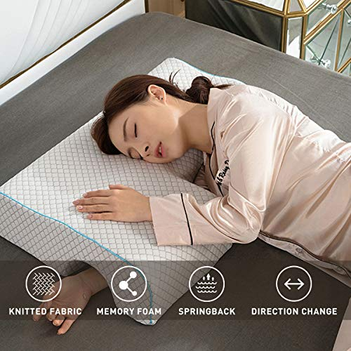 Poncho Memory Foam Pillow-Couple Pillow Breathable Arm Rest, Anti Hand Pressure Pillow for Couples Sleeping Cuddle Pillow(Reseau Right)