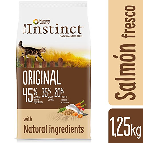 True Instinct Original - Nature's Variety - Pienso para Gato Esterilizado Adulto con Salmón - 1,25kg