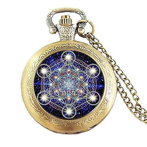 Geometría foto Mens cadena nueva moda latón collar acero cúpula reloj steampunk joyería regalo