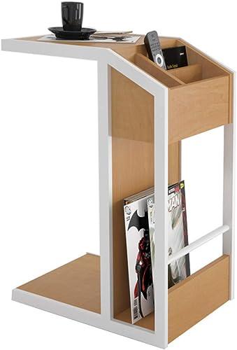 DORE HOME-Schreibtisch Zusatztisch, Couchtisch Zusatz-Mini-Couchtisch Moderner Minimalistischer Aufbewahrungstisch 2 Farboptionen (Farbe   Weiß Frame)