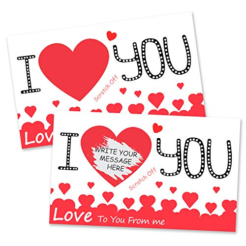 Funny DIY Birthday, Anniversary, or Valentine's Day LOVELY Card, Anniversary Card - Romantic Greeting Card for Husband, Wife, Boyfriend, or Girlfriend-30 PIECES