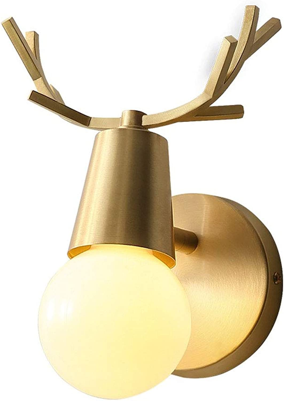 Moderne Persnlichkeit Wandleuchte Creative Geweih Modellierung Wandlampe Hohe Qualitt Messing Lampenkrper Innen Art Deco Beleuchtung Lampe