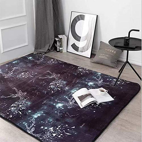 Lee My tapijten, abstract, geometrisch modern patroon, gebied tapijt, diamant-boxen, patroon, niet-vloerbedekking, wollen deken (zwart)