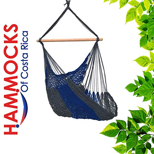 Handmade Hanging Hammock Chair with Spreader Bar for Yard, Bedroom, Porch, Indoor/Outdoor HCR-2211-95