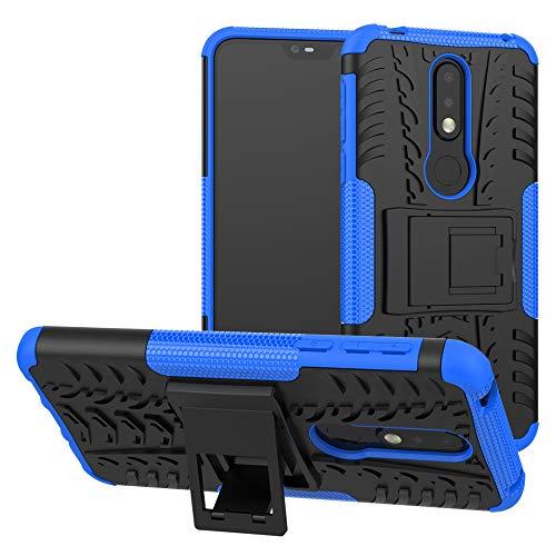 Labanema Nokia 7.1 2018 Hülle, Abdeckung Cover schutzhülle Tough Strong Rugged Shock Proof Heavy Duty Hülle Für Nokia 7.1 2018 - Blau