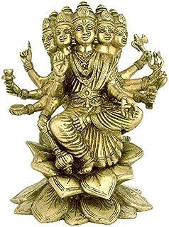 Astadhatu Made Gayatri MATA Idol/Gayatri MATA Brass Puja Idol/Maa Gayatri Brass Idol- Vrindavan (6 cm)