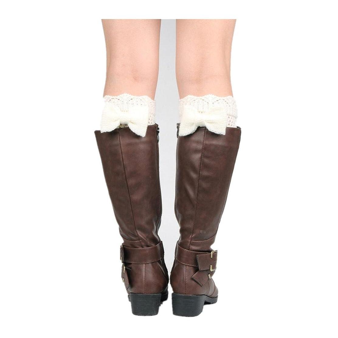 GBSELL Fashion Women Short Bow Lace Boot Socks Leg Cuffs Leg Warmers