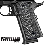 Guuun 1911 Grips G10 Full Size Government Commander Custom Grip Ambi Safety Cut OPS Eagle Wing Texture