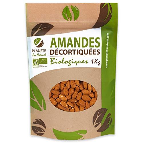 Amandes Entières Bio Décortiquées -1kg