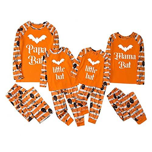Conjunto de pijama de Halloween para familia a juego con pijama de manga larga + pantalones de dos...