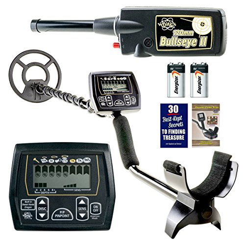 """Whites Coinmaster w/Waterproof 9"""" Spider Search Coil and Bullseye II Pinpointer Detectors Metal"""