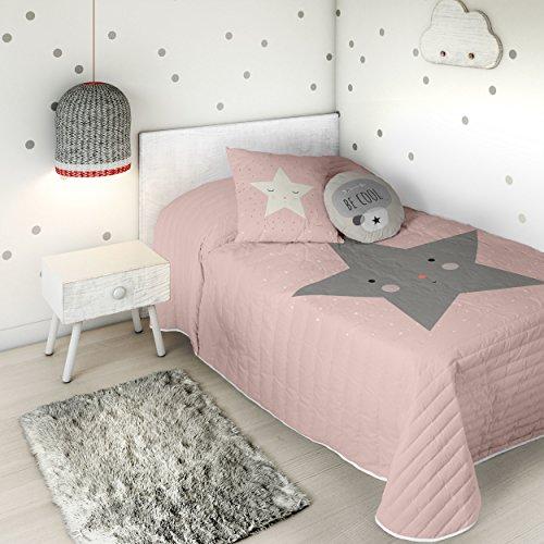 HACIENDO EL INDIO Colcha bouti Happy Star Cama 90 cm