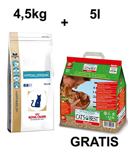 Royal CANIN hypoaller genic gato Forro + Gratis Cat 's Best Certificado Plus gato dispersa 5L