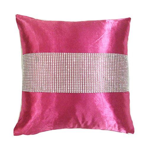 Intimates New Modern Manhattan Diamonte Cushion Cover 43x43cms Fushia