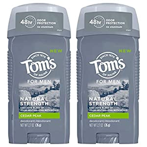 WHAT YOU'LL GET: Contains three 2.7-ounce sticks of Tom's of Maine Natural Deodorant for Men in Cedar Peak Scent 48-HOUR ODOR PROTECTION: Experience 48 hours of odor protection with this solid men's deodorant stick to help you feel fresh and confiden...