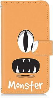 FFANY AQUOS ZETA SH-01H 用 すまほケース 手帳型 カードタイプ [モンスター・オレンジ] パロディ キャラクター SHARP シャープ アクオス ゼータ docomo スマホカバー 携帯ケース スタンド monster ...