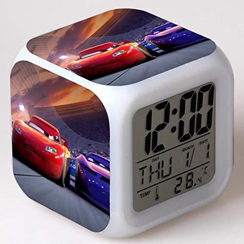 shiyueNB Reloj Despertador de Carreras Reloj Despertador de Dibujos Animados Lindo Pantalla Digital Reloj Despertador para niños Reloj led con retroiluminación 20