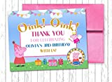 10 PEPPA PIG Blue and Pink Fairy Birthday Custom Thank You Cards 4.25x5.5