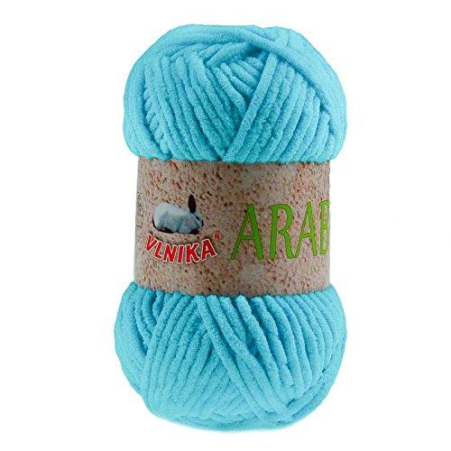 maDDma ® Kuschel-Strickgarn Arabela, 100g, Plüschwolle Srickgarn Strickwolle - Farbwahl, Farbe:Karibikblau