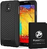 PowerBear Batterie Étendue Compatible avec Samsung Galaxy Note 3 [7500mAh], Couvercle Arrière et Boîtier de Protection (2.3X de Puissance de Batterie Supplémentaire) [24 Mois Garantie]