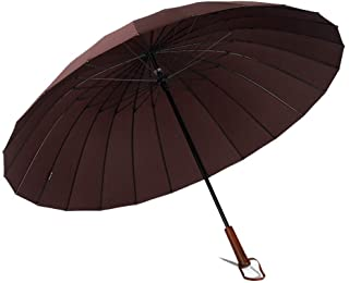 長いハンドルの傘の大きい二重は風の抵抗力がある陰の反紫外線を補強します ZHANGAIZHEN (色 : Brown)