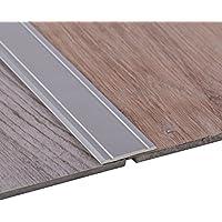 Perfil de transición de Gedotec Alu Rail adhesivo SUPER-FLACH | 1000 x 30 mm | Perfil suelo de Alu plata anodizada | tira cubierta no perforada | alféizar de la puerta para pegar - 1 pieza