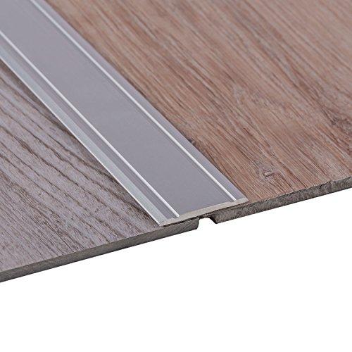 Gedotec Alu Übergangsprofil SUPER-FLACH Übergangsschiene selbstklebend | 1000 x 30 mm | Bodenprofil Aluminium Silber eloxiert | ungelochte Aluminium Abdeckleiste | 1 Stück - Türschwelle zum Kleben