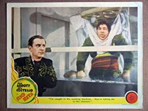 EO43 Rio Rita BUD ABBOTT/LOU COSTELLO 1942 Lobby Card. This is an original lobby card; not a dvd or video. Lobby cards were used to advertise film playing at theater and they measure 11 by 14 inches.