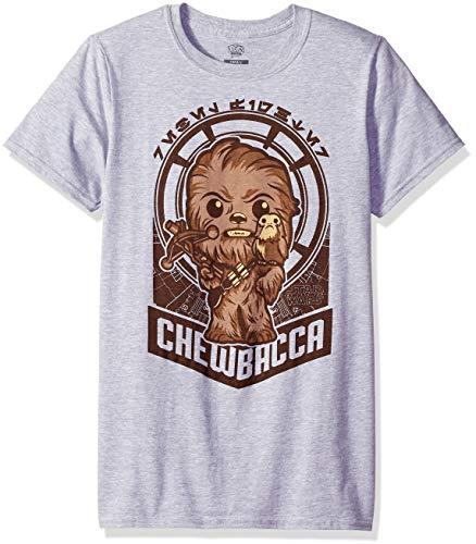 Funko Pop Tees: Chewie and PORG Millennium Falcon Camiseta, Gris Deportivo, 36 Unisex Adulto