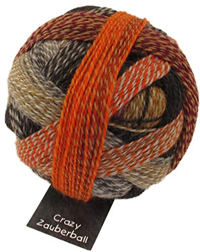 Schoppel Wolle Zauberball Crazy Fb. 2092 Schokoladenseite, Bunte Sockenwolle musterbildend mit Farbverlauf zum Stricken oder Häkeln