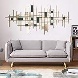 YLG Moderne Wanddekoration Aus Metall Handarbeit Abstrakte Wandbehang Für Schlafzimmer Sofa Rückwand Skulptur Hausdekorationen