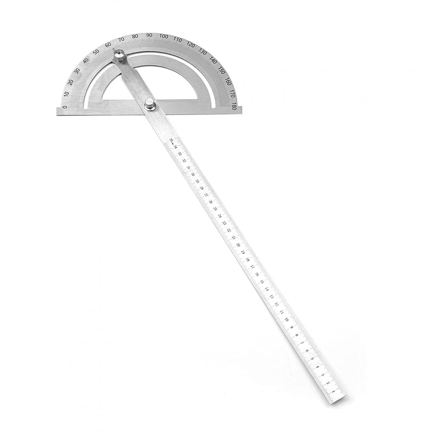 Durable Degree Sales results No. 1 Protractor 1Pcs Steel Stainless Great interest Rotary