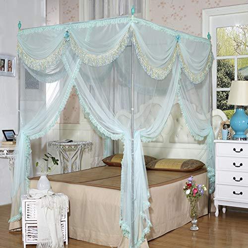 Zeemer Bed overkapping, 4 corns, muggennet, tweelaags mesh muggennet voor meisjes, kinder- en peuters