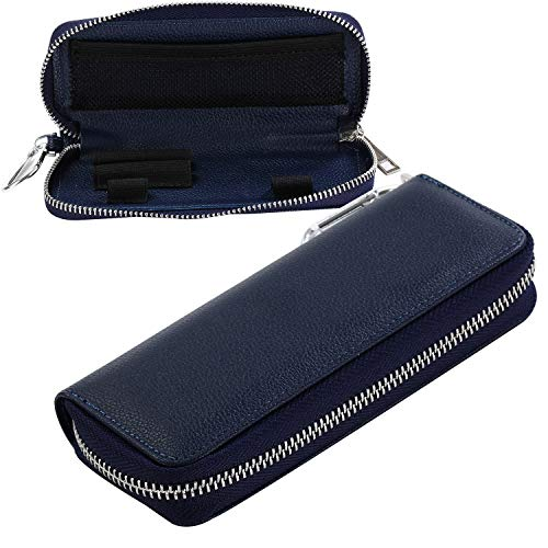Funda de piel suave con cremallera todo en 1 para cigarrillos electrónicos, con tecnología Ploom