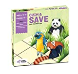 Chalk and Chuckles Claim and Save- Learning & Education, Board Game for Families and Kids Age 6-12 Years Old, Learn About Endangered Animals