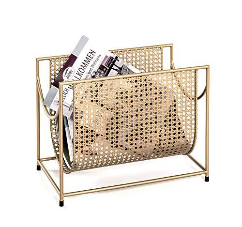 Haku Zeitungsständer BZW. Magazinständer Maße (B/T/H) in cm: 37x22x30 in Goldfarben aus Stahlrohr