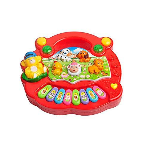 NorCWulT Elektrische Karikatur Tastatur Spieluhr Instrument Lernen und pädagogische Baby-Spielzeug für Kinder Piano Red 1PC