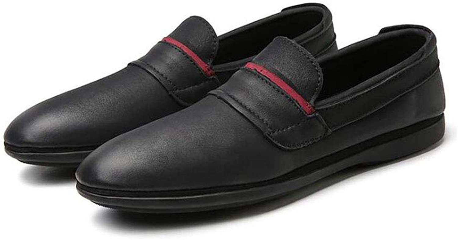 Man shoes,Spring Fall New Flat Loafers, Men Walking shoes,Slip Driving Loafers & Slip-Ons Lazy shoes,Flat shoes,Black,39