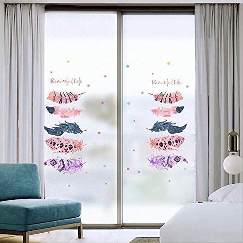 Kleur Veer Zonnescherm Sticker Licht Ondoorzichtig Glas Plakken Statische Glas Sticker Home Window Sticker Isolatie 80 * 120Cm