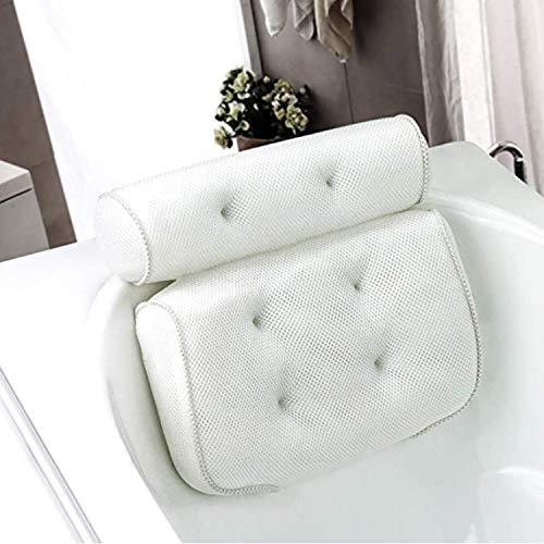 Almohada de Baño, Reposacabezas Bañera con 6 Ventosas, Sop