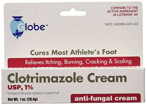 commercial jock itch cream (5 packs) Clotrimazole antifungal cream 1% USP 1.0 oz compared to rotrimin active ingredient