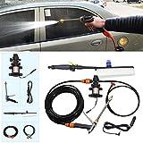 Idropulitrice per auto 12V pompa singola portatile + Spazzola ad alta pressione auto Piscina esterna accendisigari lavatrice veicolo Strumenti di lavaggio