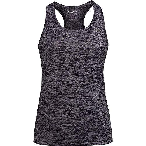 Under Armour Camiseta de Tirantes Mujer – Twist, Gym Top, Entrenamiento, Not Applicable, Tech Tank - Twist, Mujer, Color Pizarra Morado/Morado Oscuro/Plateado metálico (585), tamaño Extra-Large