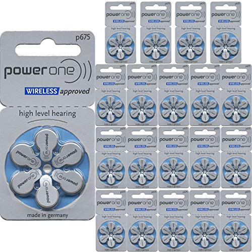 Power One Size 675 Hearing Aid Batteries (120)