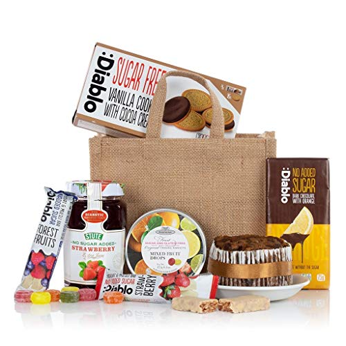 Diabetic Jute Bag Virginia Hayward - Diabetic Hamper Gift - Next Day UK del