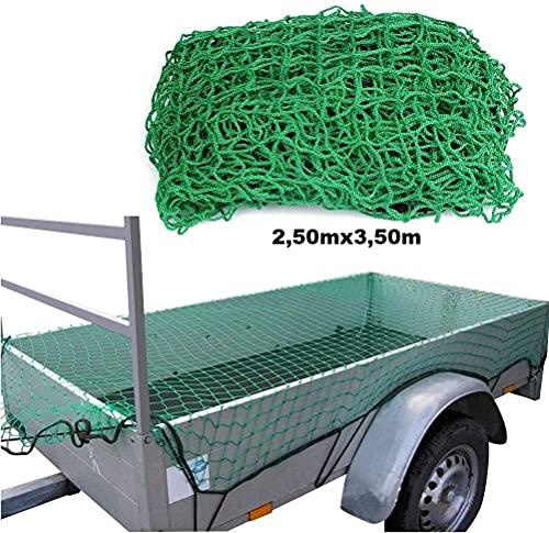 Marwotec Anhängernetz 2,5x3,5m, Gepäcknetz, zur Ladungssicherung, 2,50m x 3,50 m, Containernetz, Sicherungsnetz