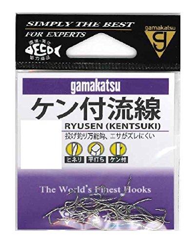 がまかつ(Gamakatsu) ケン付流線 フック 白 7号 釣り針